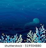 vector seascape   coral reef...   Shutterstock .eps vector #519504880