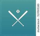 crossed baseball bats and ball. ... | Shutterstock .eps vector #519505183