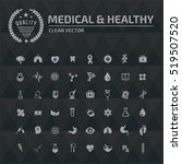 medical and healthy care icon... | Shutterstock .eps vector #519507520