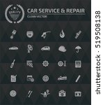 car service and repair icons... | Shutterstock .eps vector #519508138
