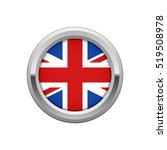 round silver badge with uk flag | Shutterstock .eps vector #519508978