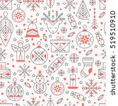 christmas seamless pattern with ... | Shutterstock .eps vector #519510910