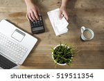 hands holding bills and paying... | Shutterstock . vector #519511354