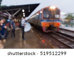 people waiting at train station ...   Shutterstock . vector #519512299