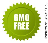 gmo free label vector on white... | Shutterstock .eps vector #519514114