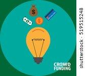 crowdfunding concept vector... | Shutterstock .eps vector #519515248