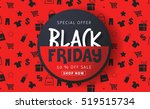 black friday sale inscription... | Shutterstock .eps vector #519515734