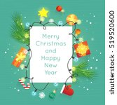 merry christmas and happy new... | Shutterstock .eps vector #519520600