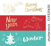 merry christmas and happy new... | Shutterstock .eps vector #519520630