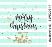 christmas greeting card ... | Shutterstock .eps vector #519520849
