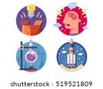 innovative ideas invention and... | Shutterstock .eps vector #519521809