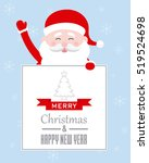 card merry christmas. santa... | Shutterstock .eps vector #519524698