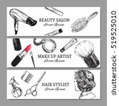 beauty salon advertisement ... | Shutterstock .eps vector #519525010
