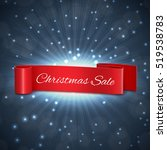 christmas sale ribbon. eps10... | Shutterstock .eps vector #519538783