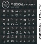 medical and healthy care icons ... | Shutterstock .eps vector #519539740