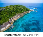 aerial view of a tropical... | Shutterstock . vector #519541744