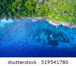 aerial view of a tropical...   Shutterstock . vector #519541780