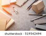 top view of architects table... | Shutterstock . vector #519542494