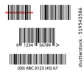 set  collection of barcodes... | Shutterstock .eps vector #519543586