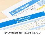 personal loan application form... | Shutterstock . vector #519545710