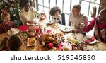 family together christmas... | Shutterstock . vector #519545830