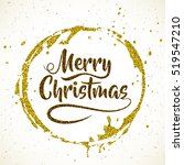 merry christmas. lettering on... | Shutterstock .eps vector #519547210