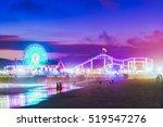 santa monica  beach at night ...   Shutterstock . vector #519547276