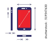mobile phone blueprint with... | Shutterstock .eps vector #519547630