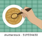 seo letter soup containing... | Shutterstock .eps vector #519554650