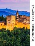 alhambra of granada  spain.... | Shutterstock . vector #519559426