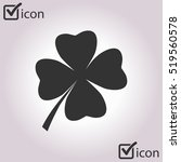 leaf clover sign icon. saint... | Shutterstock .eps vector #519560578