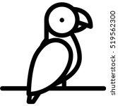parrot icon | Shutterstock .eps vector #519562300