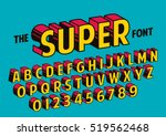 vector of stylized retro font