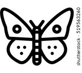 butterfly icon | Shutterstock .eps vector #519563260