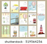 colorful cute monthly calendar... | Shutterstock .eps vector #519564256