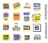set of flat design sale... | Shutterstock .eps vector #519565903