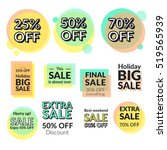 set of flat design sale... | Shutterstock .eps vector #519565939