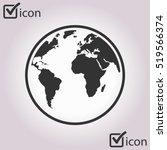 globe icon. | Shutterstock .eps vector #519566374