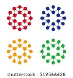 abstract water molecule vector... | Shutterstock .eps vector #519566638