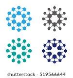 abstract water molecule vector...   Shutterstock .eps vector #519566644