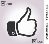 like  icon. hand finger up sign.... | Shutterstock .eps vector #519567418