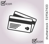vector credit cards icon. flat... | Shutterstock .eps vector #519567433