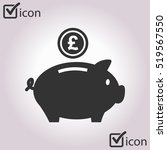 piggy bank icon. pictograph of... | Shutterstock .eps vector #519567550
