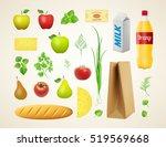 vector food set   different... | Shutterstock .eps vector #519569668