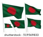 Bangladesh Vector Flags Set. 5...