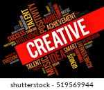 creative word cloud collage ... | Shutterstock .eps vector #519569944