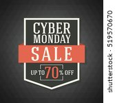cyber monday sale background... | Shutterstock .eps vector #519570670