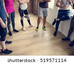 diversity people exercise class ... | Shutterstock . vector #519571114