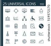 set of 25 universal editable... | Shutterstock .eps vector #519572170