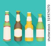 vector illustration of beer in... | Shutterstock .eps vector #519574570